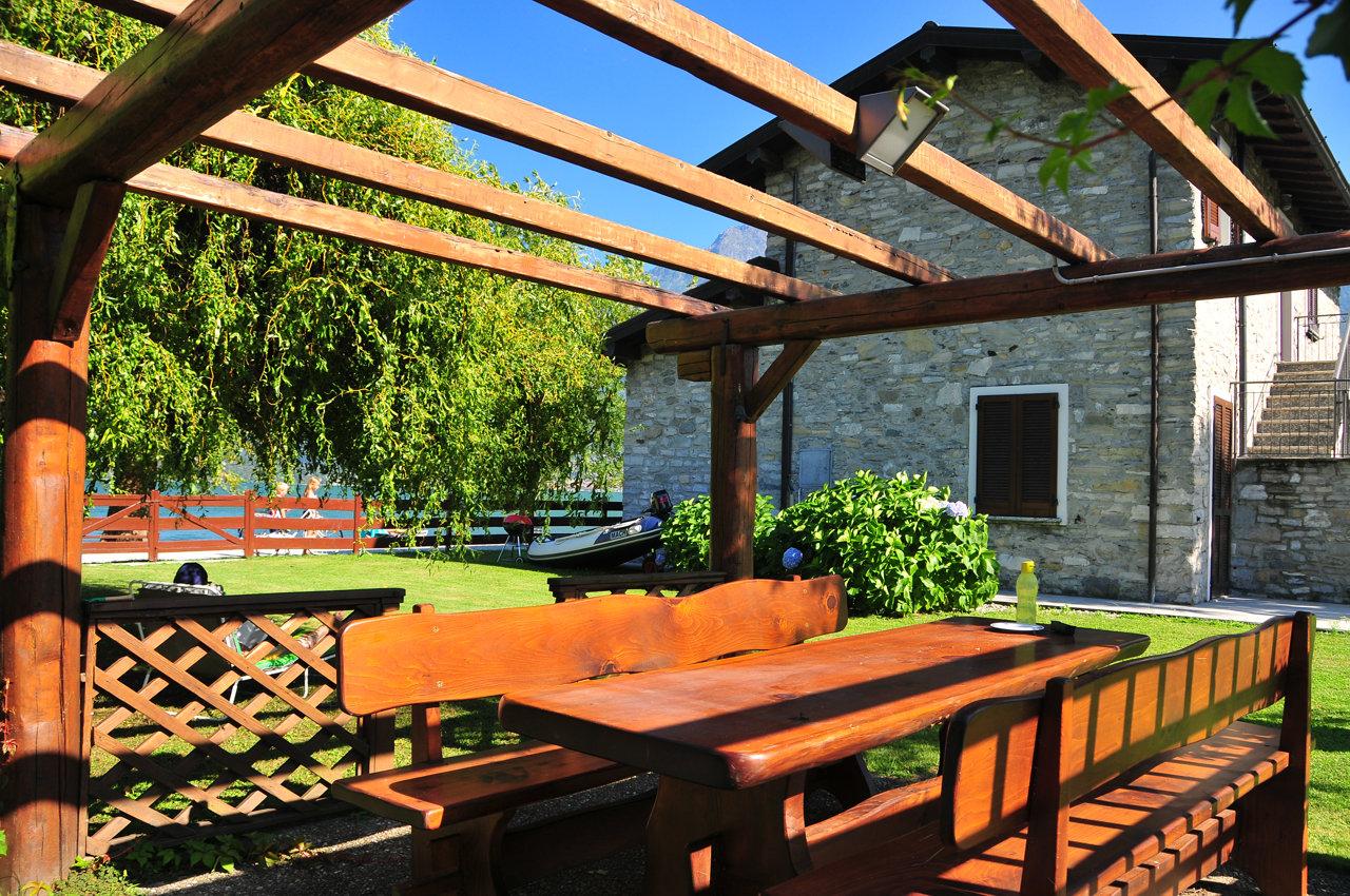 gazebo villa in affitto lago di Como