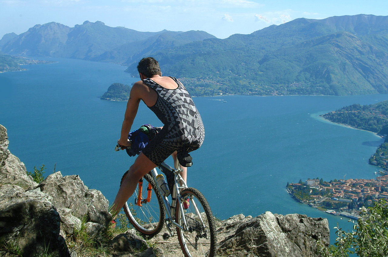 Mountainbike lake Como